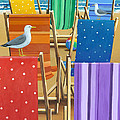 Rainbow Deckchairs by MGL Meiklejohn Graphics Licensing