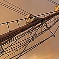 Tall Ship Meets Rainbow by Mike Santis