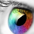 Rainbow Eye by Rajeshmegi Megi