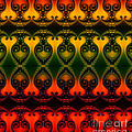Rainbow Fractal Pattern by Clayton Bruster