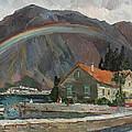 Rainbow In The Mountains by Juliya Zhukova
