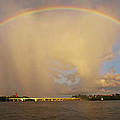 Rainbow Jupiter Inlet by Bruce Bain