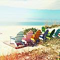 Rainbow Of Adirondack Chairs IIII by Chris Andruskiewicz
