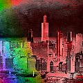 Rainbow On Chicago Mixed Media Textured by Thomas Woolworth