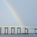 Rainbow On Top Of The Bridge by Michelle Powell