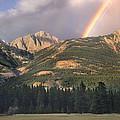 Rainbow Over Colin Range Jasper Np by Tim Fitzharris