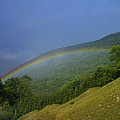 rainbow over Maggie valley by Chris Flees