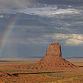 Rainbow over Monument Valley