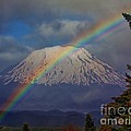 Rainbow Over Mount St. Helens  by Steven Baier