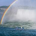 Rainbow Over Niagara. by Les Lorek
