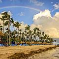 Rainbow Over The Beach by Viktor Birkus