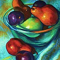 Rainbow Pears by Peggy Wrobleski