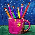Rainbow Pencils In A Cup by Dale Moses