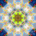 Rainbow Starburst Mandala by Susan Bloom