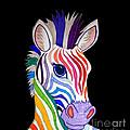 Rainbow Striped Zebra 2 by Nick Gustafson