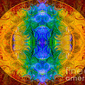 A Rainbow Of Chaos Abstract Mandala Artwork By Omaste Witkowski by Omaste Witkowski