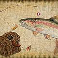 Rainbow Trout-basket Weave by Jean Plout