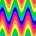 Rainbow Waves by Sharon Woerner