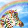 Rainbow Zebra by Carol Cavalaris