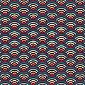 Rainbowaves Pattern Dark by Freshinkstain