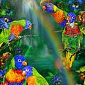 Rainbows In Paradise by Carol Cavalaris