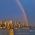 Rainbows Over The New York City Skyline by Susan Candelario
