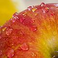 Raindrops On An Apple by Warrena J Barnerd