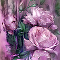 Raindrops On Pink Roses by Carol Cavalaris