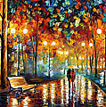 Rain's Rustle 2 - Palette Knife Oil Painting On Canvas By Leonid Afremov by Leonid Afremov