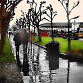 Rainy At The Pier by Lisa Alex