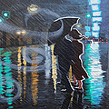 Rainy City Street by Tommy Midyette