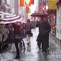 Rainy Corner - New York City by Miriam Danar