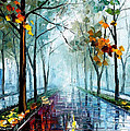 Rainy Day - Palette Knife Oil Painting On Canvas By Leonid Afremov by Leonid Afremov