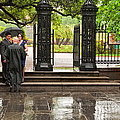 Rainy Destination Wedding In Jackson Square New Orleans by Kathleen K Parker