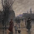 Rainy Evening On Hennepin Avenue by Robert Koehler