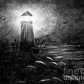 Rainy Night At The Lighthouse by Barbara Griffin