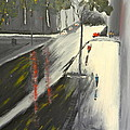 Rainy Street In Melbourne by Pamela  Meredith