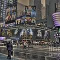 Rainy Times Square by David Bearden