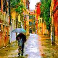 Rainy Walk In Venice by Yury Malkov