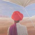 Rajasthan Farmer, 2012 Acrylic On Canvas by Lincoln Seligman