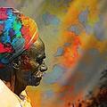 Rajasthani Farmer Rural Indian Turban by Sue Jacobi