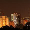 Raleigh Skyline At Night by Andrew Nelson