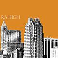 Raleigh Skyline - Dark Orange by DB Artist