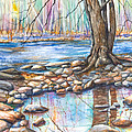 Ralph Stover Park In The Spring by Patricia Allingham Carlson