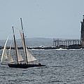 Ram Island Ledge Light And Schooner by Christiane Schulze Art And Photography