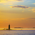 Ram Island Lighthouse Casco Bay Maine by Diane Diederich