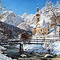 Ramsau Church Germany by Schmidt Roger