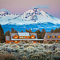 Ranch House And Sisters by Inge Johnsson