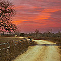 Ranch Under A Blazing Sky by James Granberry
