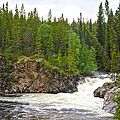 Rancheria Falls Along Alaska Highway In Yk-canada   by Ruth Hager